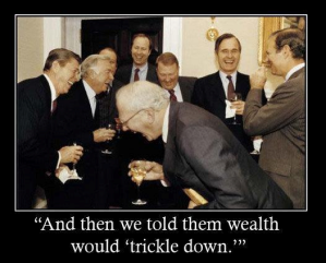Reagan Bush Wealth Trickle Down