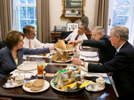 Pete Souza photo, lunch in the White House, Obama, Boehner, Pelosi, Reid, McConnell