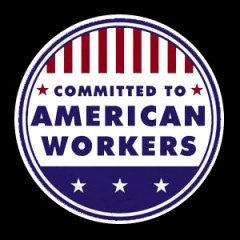 American Workers Button